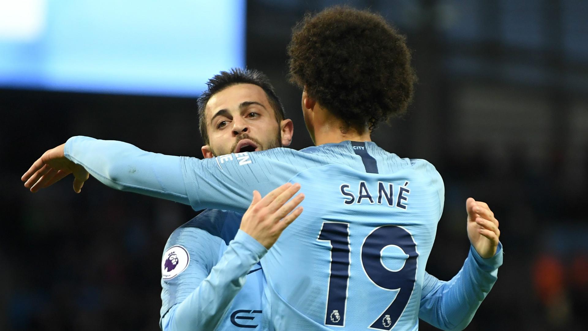 Bernardo Silva Leroy Sane Manchester City 2017-18