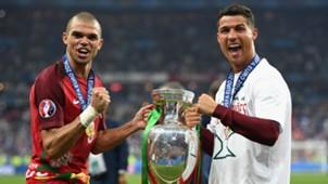 Pepe Cristiano Ronaldo Portugal Euro