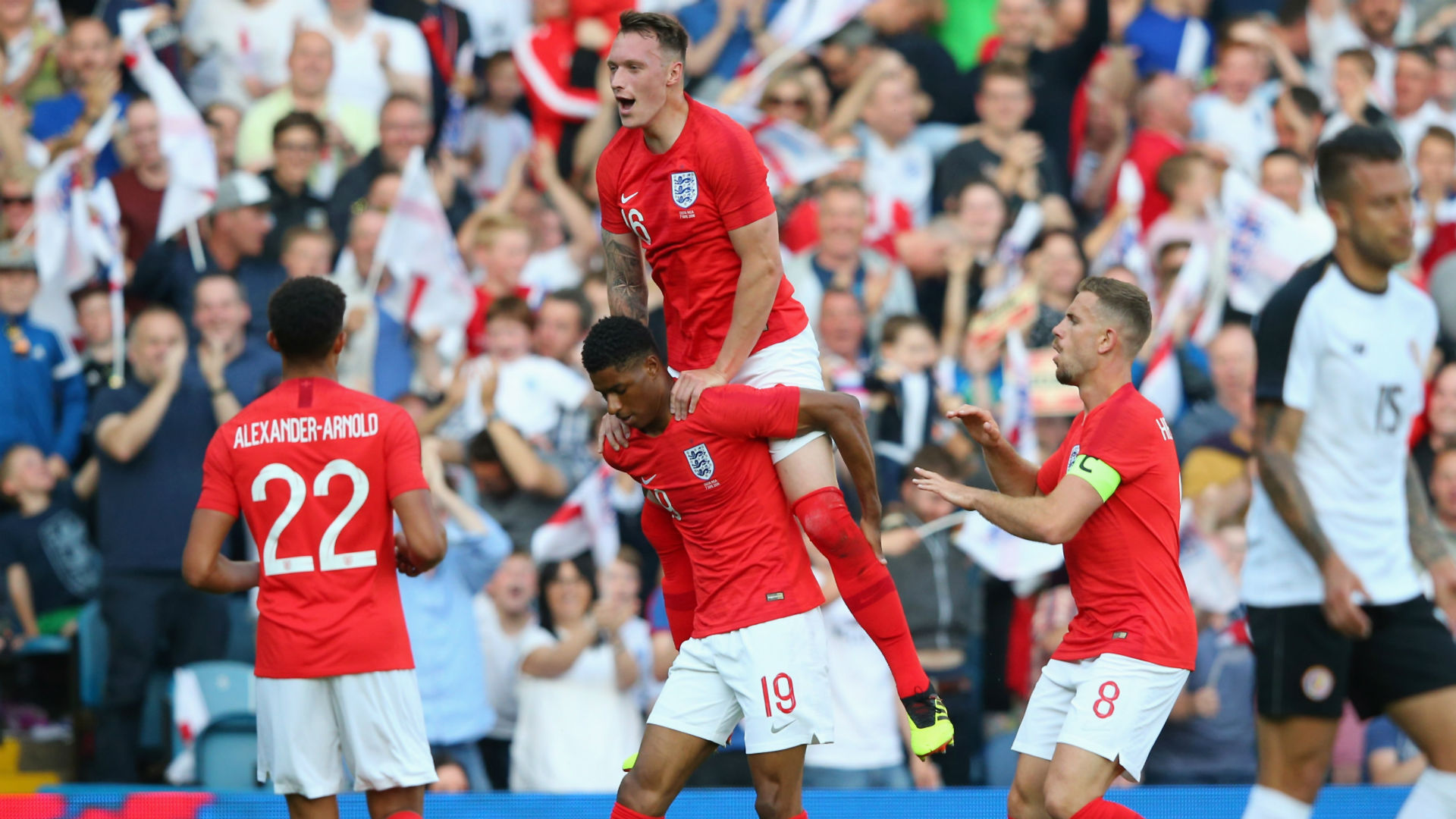 Marcus Rashford Phil Jones Jordan Henderson England Costa Rica international friendly 2018