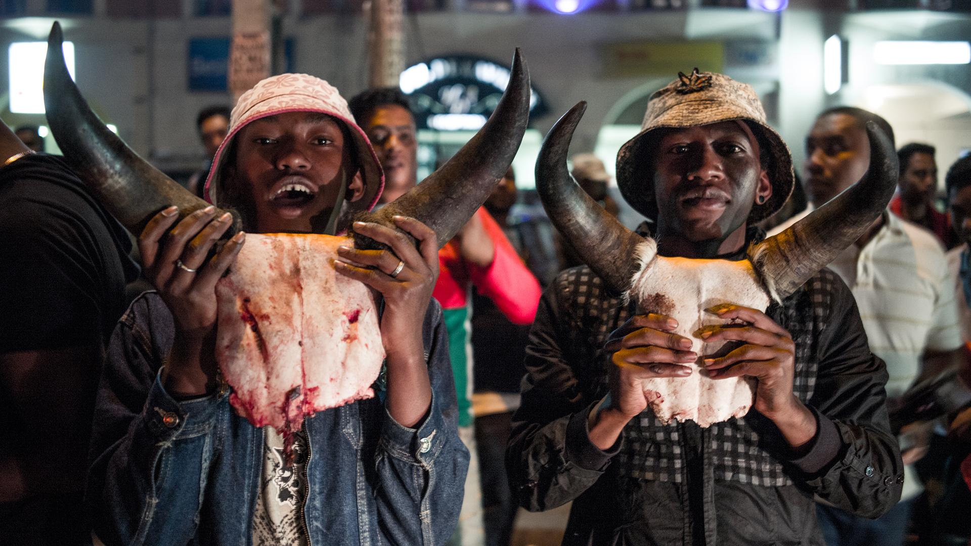 Madagascar fans celebrate AFCON
