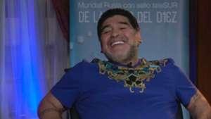 "Diego Maradona show ""The Hand of god"""
