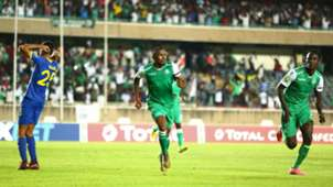 Jacques Tuyisenge of Gor Mahia and Shafik Batambuze v Petro Atletico.