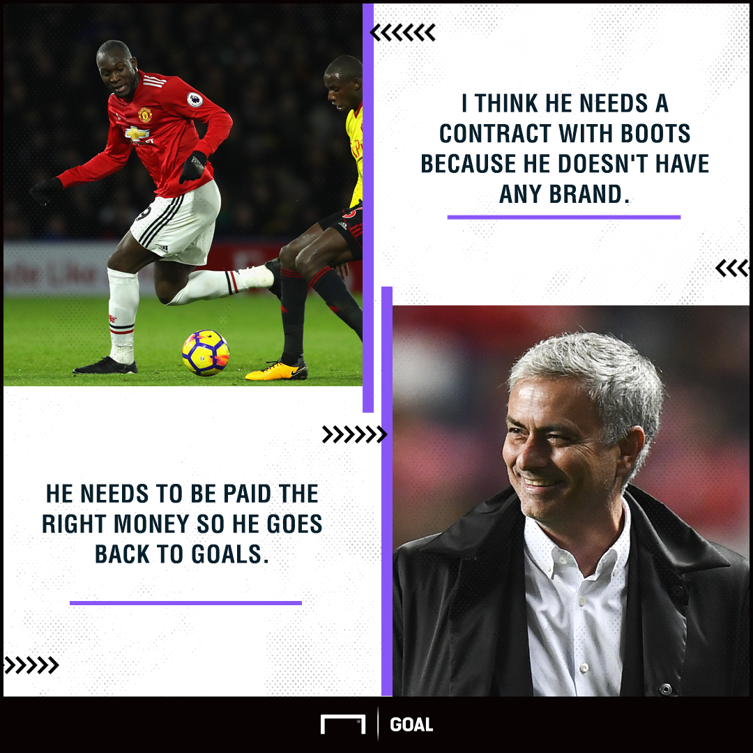 Jose Mourinho Romelu Lukaku boot deal