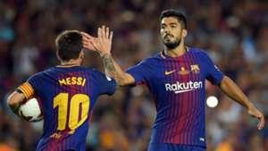 Lionel Messi Luis Suárez Barcelona Real Madrid Supercopa 13082017