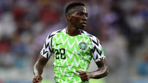Kenneth Omeruo of Nigeria during the 2018 FIFA World Cup Russia group D match between Nigeria and Iceland