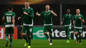 Ludogorets celebrating
