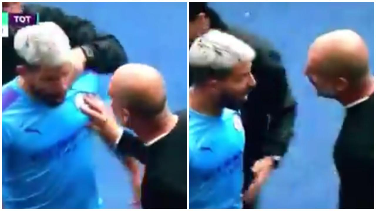 Screen Quarrel Aguero Guardiola Manchester City Tottenham Premier League 08172019