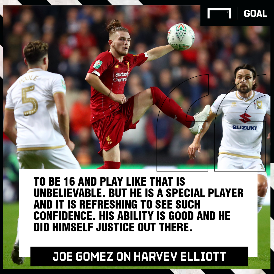 Joe Gomez on Harvey Elliott 2019