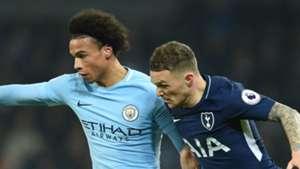 Leroy Sane Manchester City Kieran Trippier Tottenham