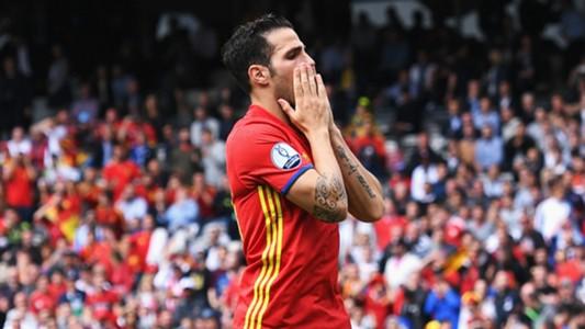 Cesc Fabregas Spain Czech Republic Euro 2016