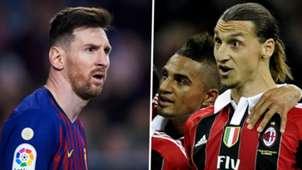 Lionel Messi Kevin-Prince Boateng Zlatan Ibrahimovic