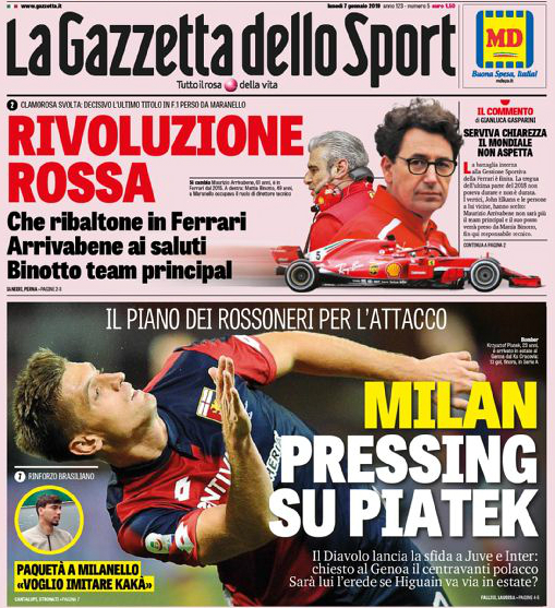 Roma e Milan in pressing su Piatek, defilate Juventus e Napoli