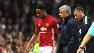 Anthony Martial Jose Mourinho Manchester United Premier League