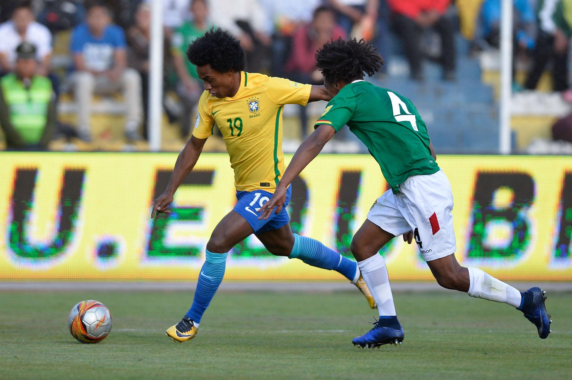 Willian Bolívia x Brasil 05102017