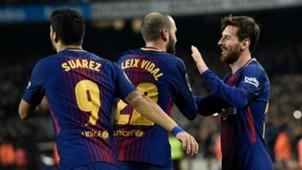 Lionel Messi Luis Suárez Aleix Vidal Barcelona
