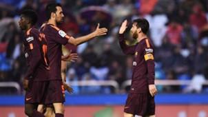 Busquets Messi Barcelona Deportivo de La Coruña LaLiga