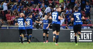 Inter players celebrating Chelsea Inter ICC