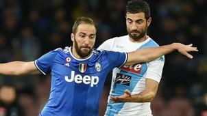 Higuain Albiol Napoli Juventus Serie A