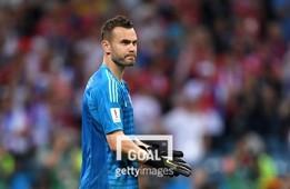 1일(현지시간) 러시아 대표팀 은퇴를 선언한 골키퍼 아킨페프. 사진=게티이미지