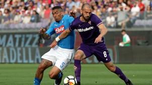 Riccardo Saponara Allan Fiorentina Napoli Serie A