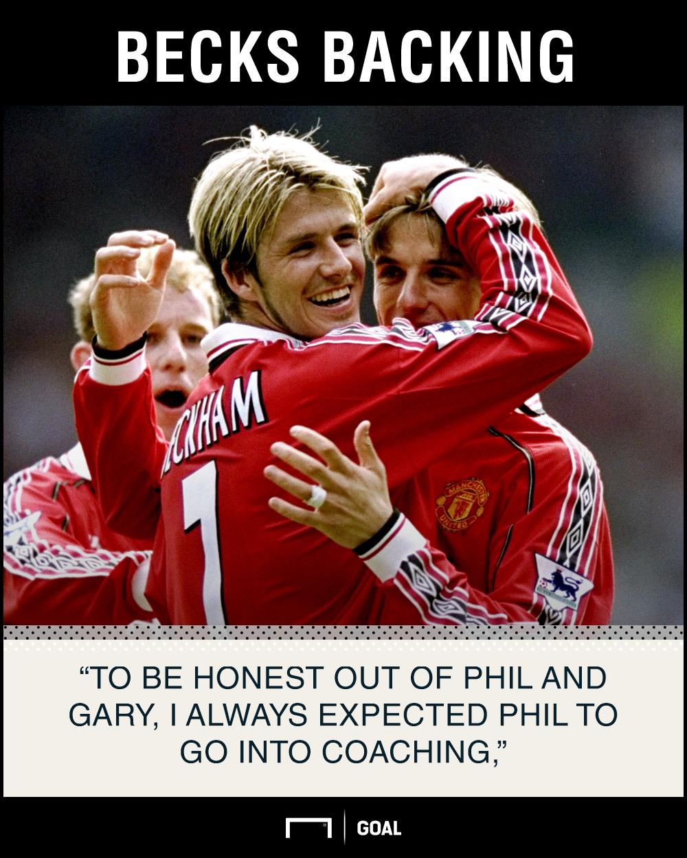 David Beckham Phil Neville coaching