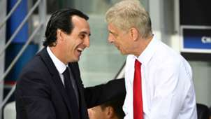 Unai Emery Arsene Wenger PSG Arsenal