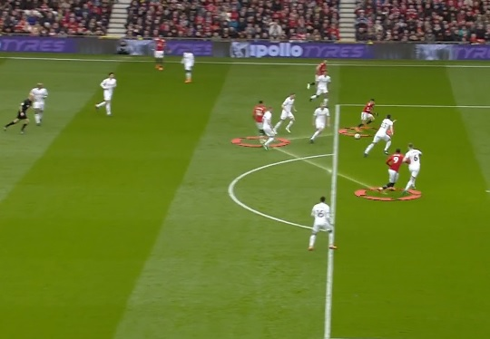 Manchester United First Goal vs Swansea
