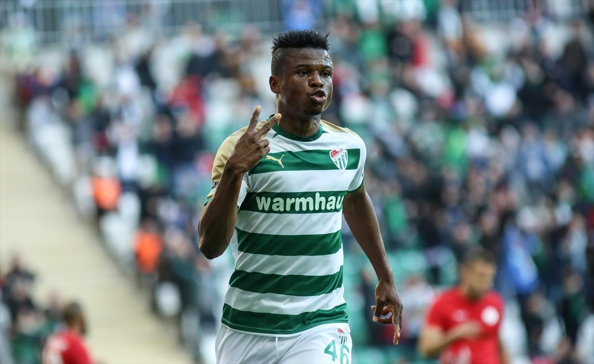 Bursaspor's great comeback against Kasimpasa thrills Mikel Agu