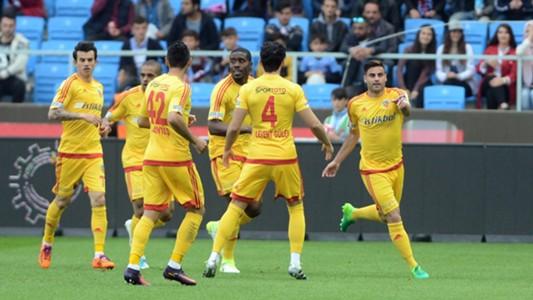 Kayserispor goal celebration against Trabzonspor 652017
