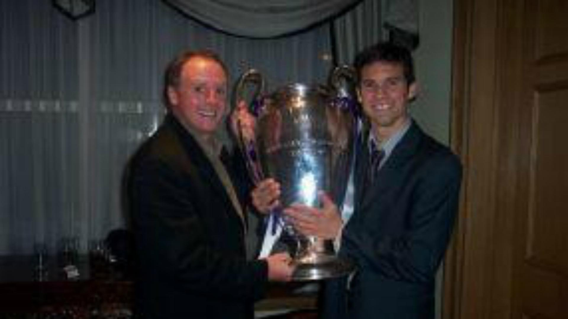 Santiago Solari Tim Lenahan 2002 Champions League Trophy