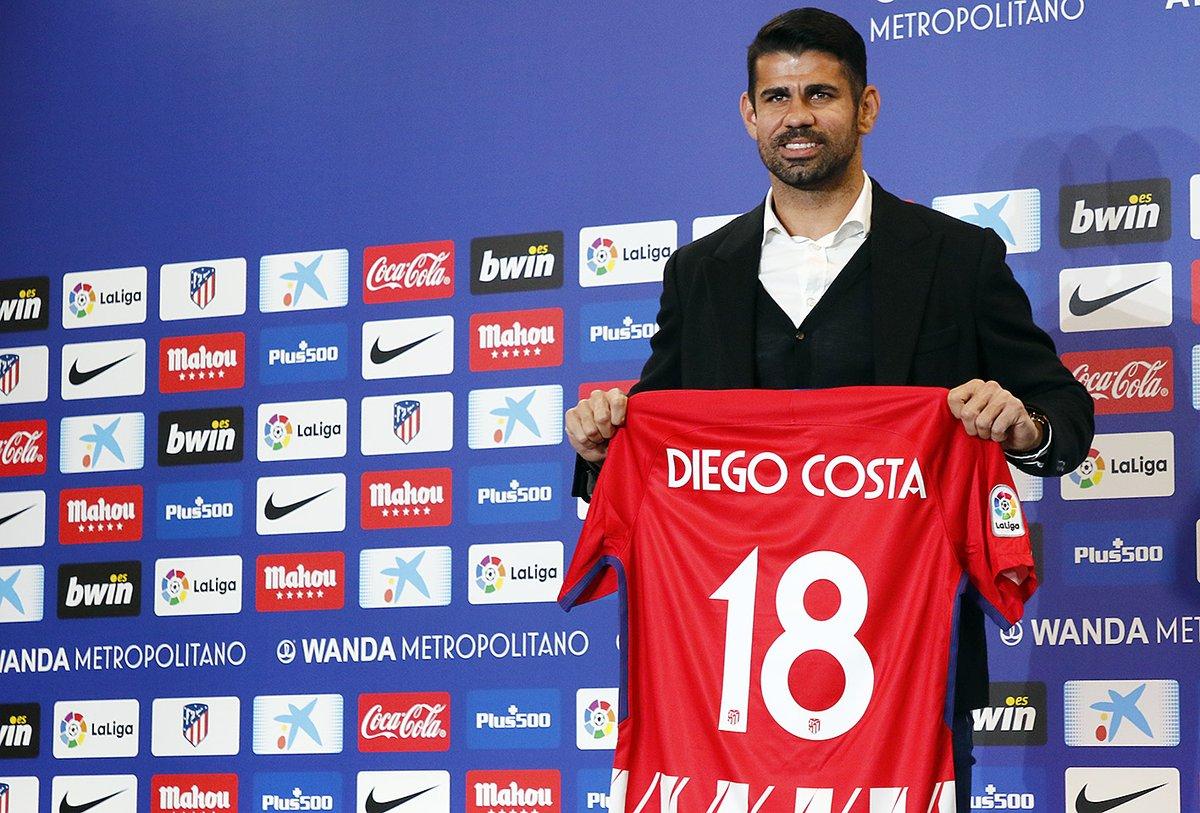 Calciomercato Atletico Madrid, ufficiali gli arrivi di Diego Costa e Vitolo