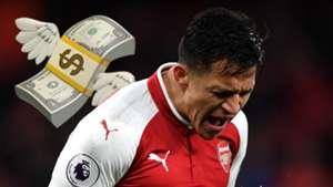 Alexis Sanchez Arsenal money emoji