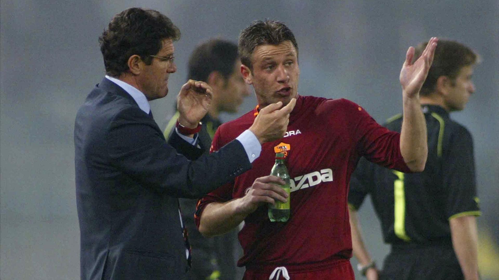 Antonio Cassano Fabio Capello Roma