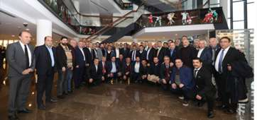 Turkish Football Federation President Yildirim Demiroren and Club Presidents