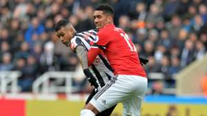 Chris Smalling Kenedy Newcastle United Manchester United Premier League