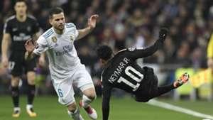 Neymar Nacho Real Madrid PSG Champions League 14022018
