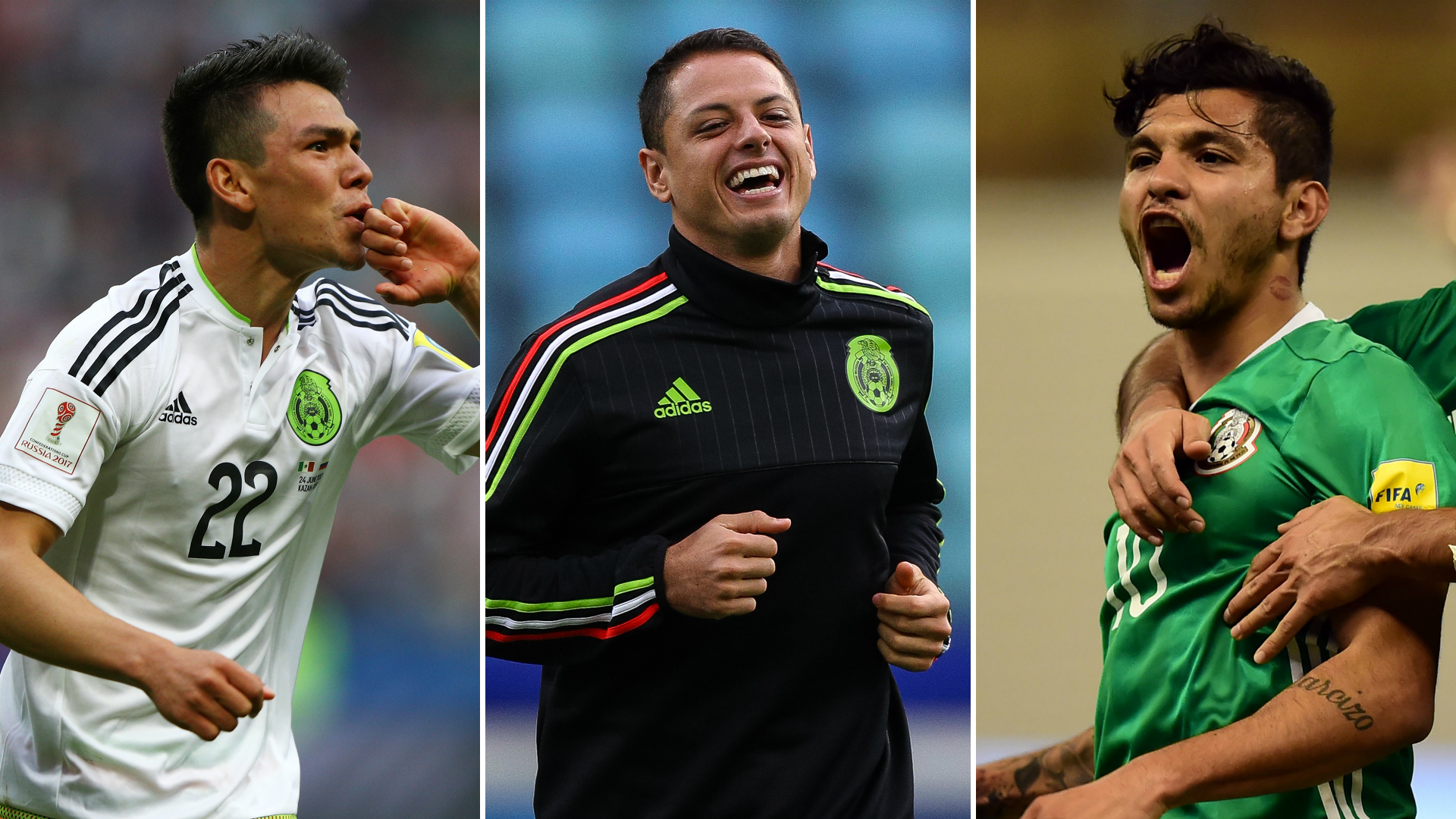 Lozano - Chicharito - Tecatito
