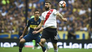 Lucas Pratto Boca Juniors vs River Plate Copa Libertadores final first leg 2018