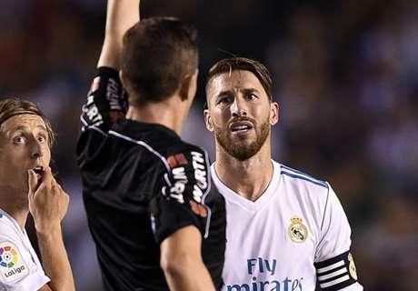 Cuántas tarjetas rojas y amonestaciones tiene Sergio Ramos