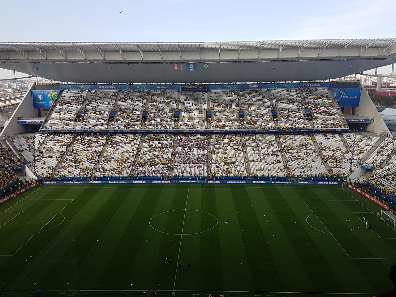 Arena Corinthians antes de Brasil x Peru