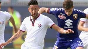 Mauricio Isla y Lucas Boyé Cagliari Torino 090417