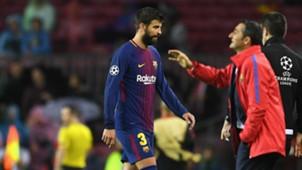 Gerard Pique, Barcelona v Olympiacos, Champions League 17/18