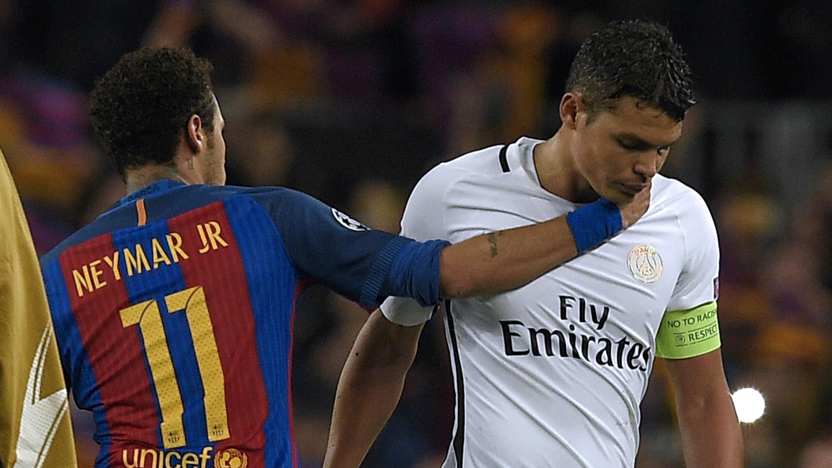 Neymar Thiago Silva Barcelona PSG 08032017