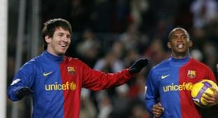 Lionel Messi Samuel Eto'o Barcelona