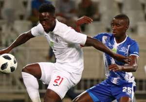 Stars threatened first through Siphelele Mthembu whose deflected effort was easily saved by Maritzburg goalkeeper Richard Ofori three minutes into the game.