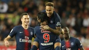 Neymar Edinson Cavani Monaco vs PSG Ligue 1 2018-19