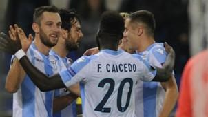 Lazio celebrating Europa League