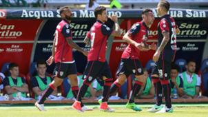 Cagliari celebrating Cagliari Empoli Serie A