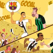 CARTOON Ronaldo scores for Juve