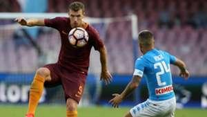 Lorenzo Insigne Edin Dzeko Napoli Roma Serie A